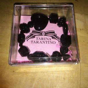 Tarina Tarantino Black Lucite Heart Bracelet